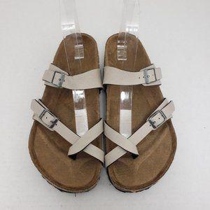 Birkenstock Mayari Thong Buckle Tan Sandals Sz 38